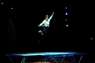 Bello Nock au trampoline - photo F. Dehurtevent - Trampoline
