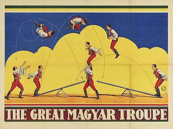 La troupe Magyar - sauteurs à la bascule