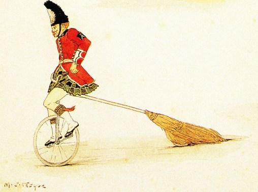 Nello à monocycle - les demoiselles Vesque
