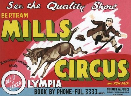 Karl Kossmayer - Affiche du Bertram Mills Circus :