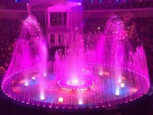 Un beau final à Lille - fontaines lumineuses