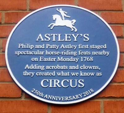 Hommage à Philip Astley - commémorations