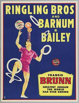 Affiche Ringling - Francis Brunn -