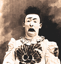 Orlando Averino clown de la Belle-Epoque