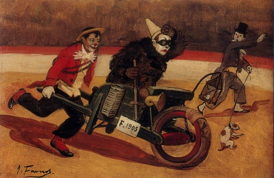 Orlando Averino dans son automobile 1906 par Favrot - collection Violette Medrano