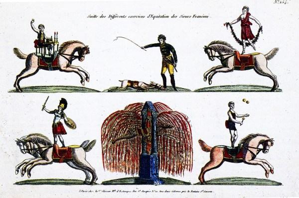 Scènes d'équitation - premier Cirque Olympique