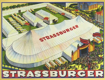 Affiche du Cirque Strassburger - Paix dans la Jungle