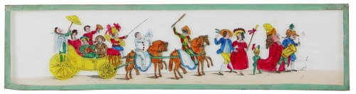 La cavalcade au Cirque impérial - Plaques lumineuses