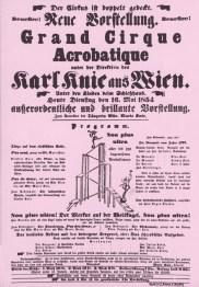 Affiche Karl Knie - 1854 - frères Knie
