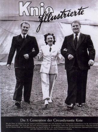 Frédy, Eliane et Rolf Knie - Cirque des trois frères Knie