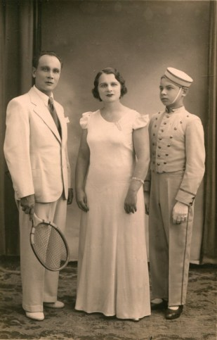 Vittorio Ferroni - sa famille - photo