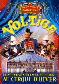 affiche du Cirque d'Hiver Bouglione - Voltige