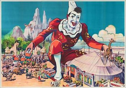 Cirque Carl Hagenbeck - clown et  chapiteau