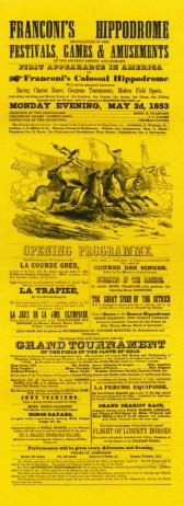 Affiche du Franconi's Hippodrome