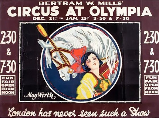 Affiche au Bertram Mills Circus - M. Wirth