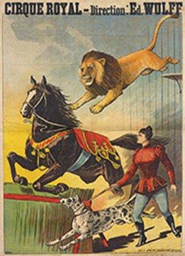 Le lion écuyer chez Wulf - affichef