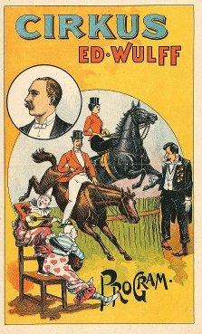 Programme Cirkus Eduard Wulff - 1900