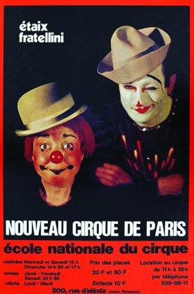 Affiche Nouveau Cirque de Paris
