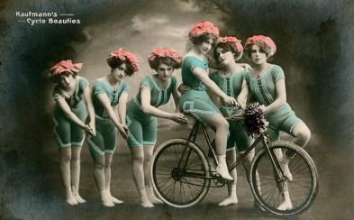 Beautés à bicyclette - carte
