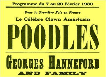 Poodles à l'Empire de Paris 1930