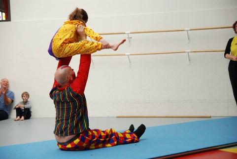 Ouder en Kind acrobatiek