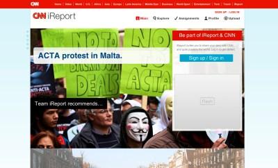 ACTA Protest on CNN iReport