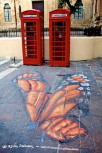 3D Street Art destroyed by Rain