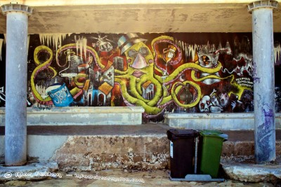 Graffiti Sliema Chalet Area .Photography by Alan Falzon
