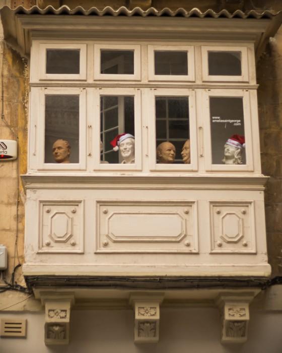 Headed balcony,Circus Malta,Valletta