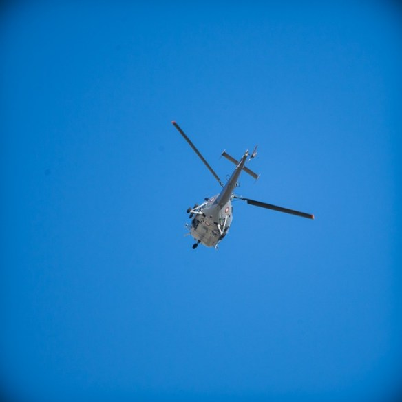 Just a helicopter