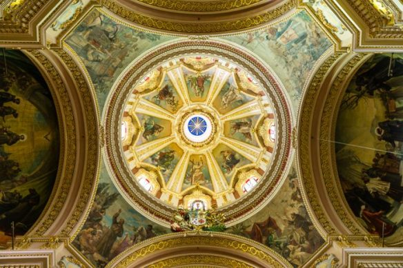 Church ceiling, Gozo