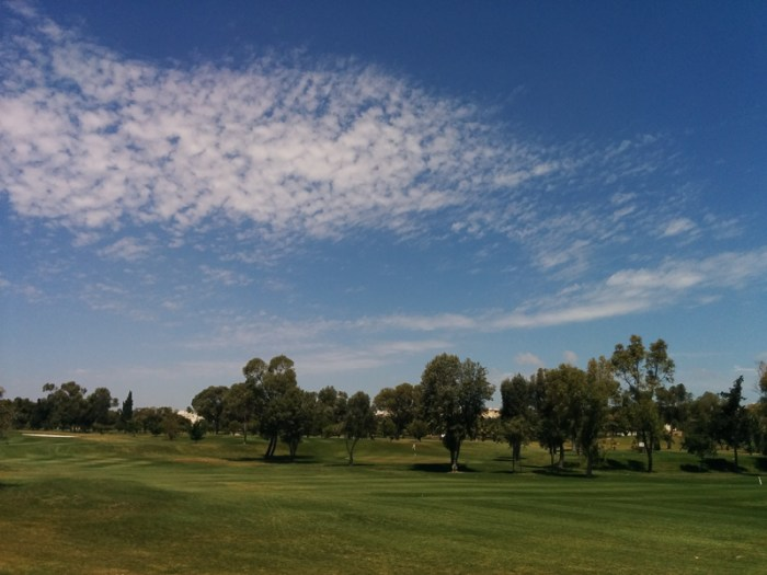 Spring day, Golf cource