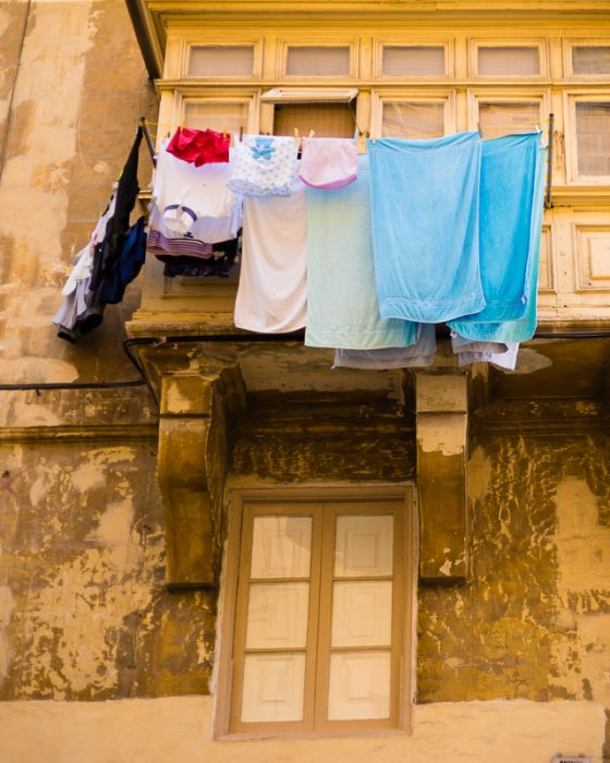 Colourful washing