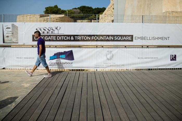 Works about to start, Valletta