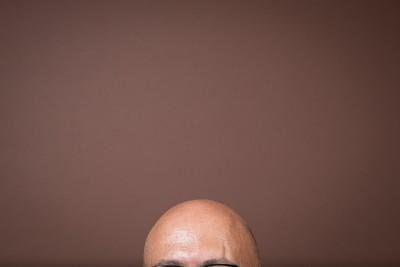 Bald friend.