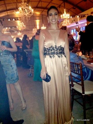 Number Five Raquel e seu vestido rosa com preto