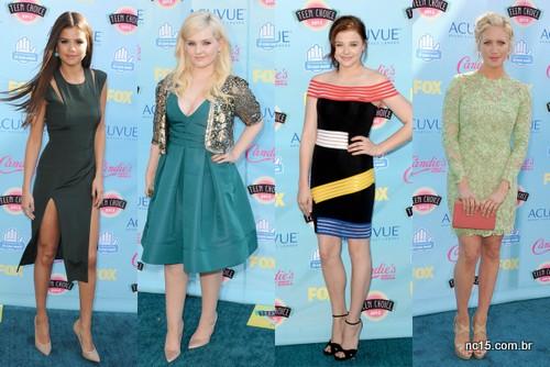 Selena Gomez, Abigail Breslin (dez anos mais velha), Chloe Grace Moretz e Brittany Snow