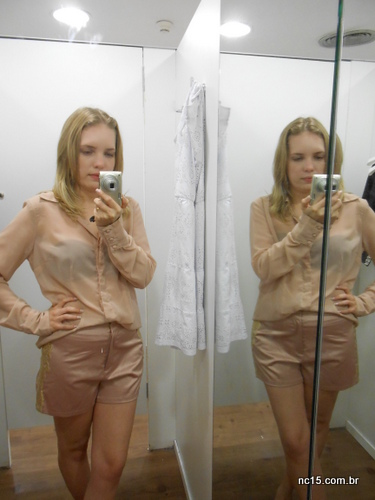 Shorts e camisa rosê