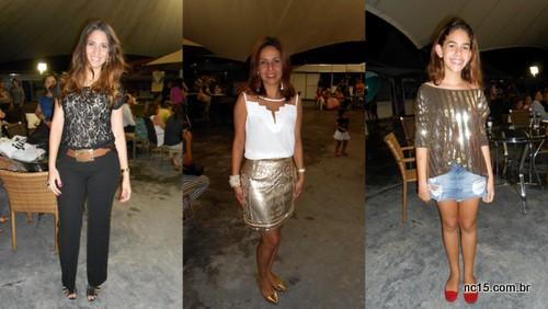 A empresária Naranda Gouveia A RP e blogueira Shirleide Lima A linda fashionista Beatriz