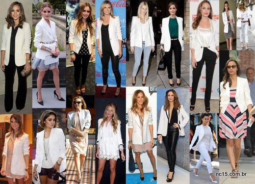 Famosas usando blazer branco