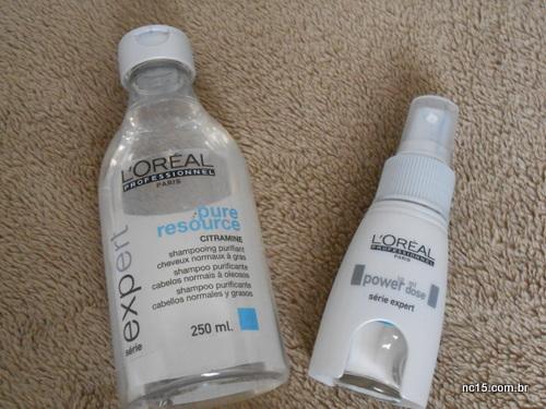 xampu pure resource da L'Oréal e power dose