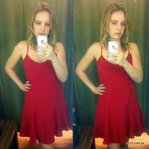 Look 3 Vestido vermelho: 79,90