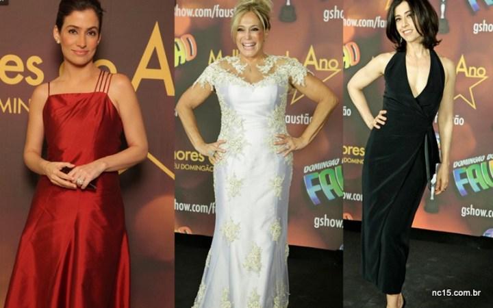 Renata Vasconcelos, Suzana Vieira e Fernanda Torres no melhores do ano da Globo