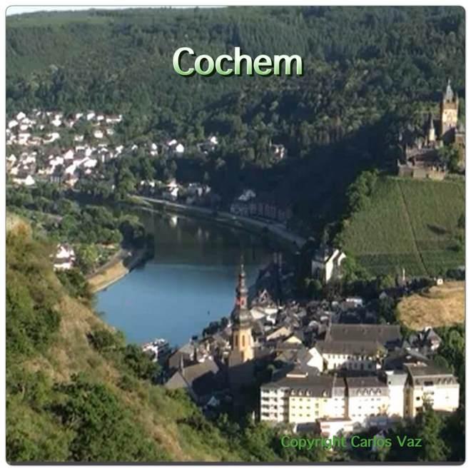 vista da cidade de Cochem na Alemanha