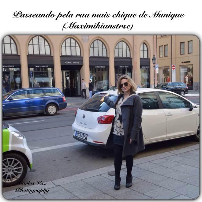 passeando pela rua mais chique de Munique, Maximikianstrse