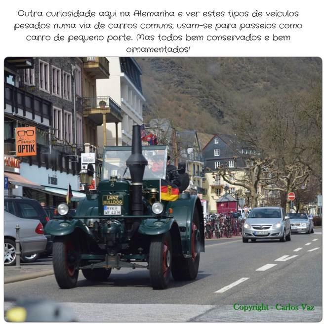 veículos pesados pelas ruas de cochem