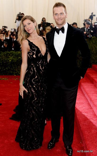 Tom Brady também foi de black tie para o met ball 2014