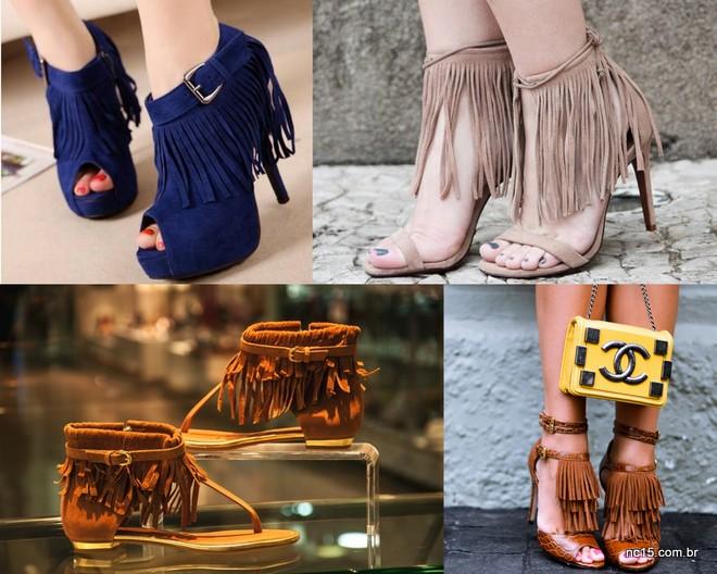 Sandálias de franjas