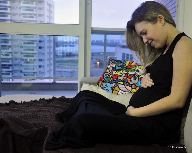 Eu grávida de 18 semanas