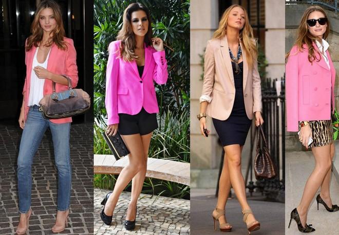 Miranda Kerr, Mariana Rios, Blake Lively e Olivia Palermo apostam no pink blazer